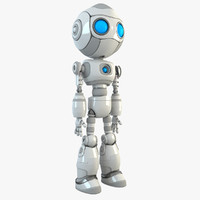 3d model robot character android