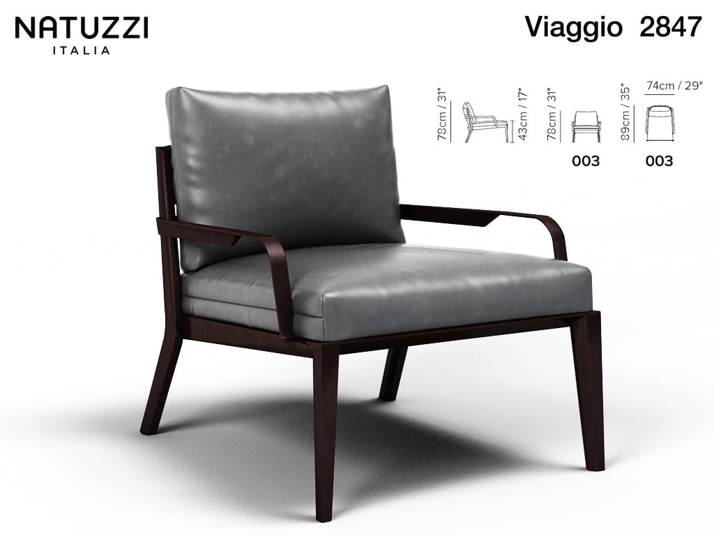3d model armchair viaggio