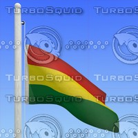 flag bolivia - loop 3d model