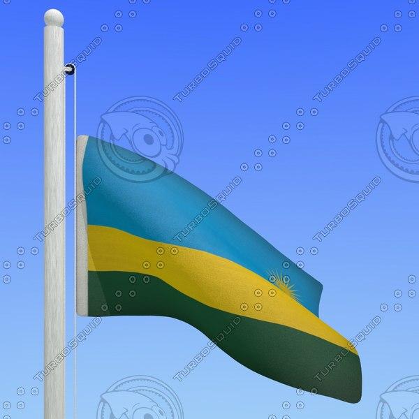 flag rwanda - loop 3d max