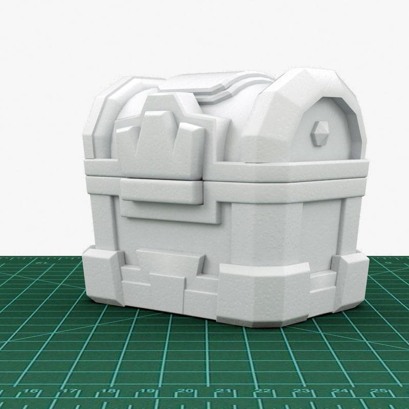3d model clash crown chest