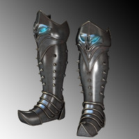 jackboot boot fantasy 3d model