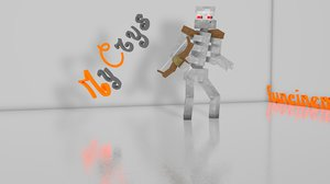 3d minecraft mutants pack model