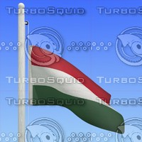 flag hungary - loop 3d max
