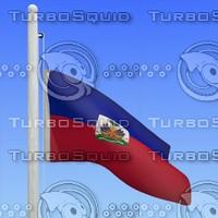 3d model flag haiti - loop