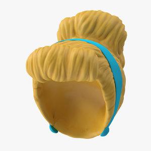 cinderella wig 3d model