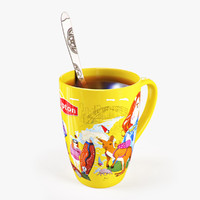 3d model lipton cup spoon australia
