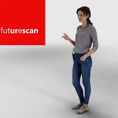 scan people smile 3d max