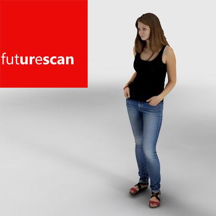 scan people smile 3d model