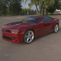 3d chevrolet camaro ss 2015 model