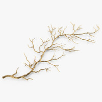 Gold Twig Branch Wall Art