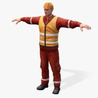 3d worker 2 model