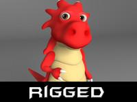Cartoon red dragon