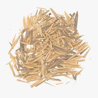 splintered wood 04 3d c4d