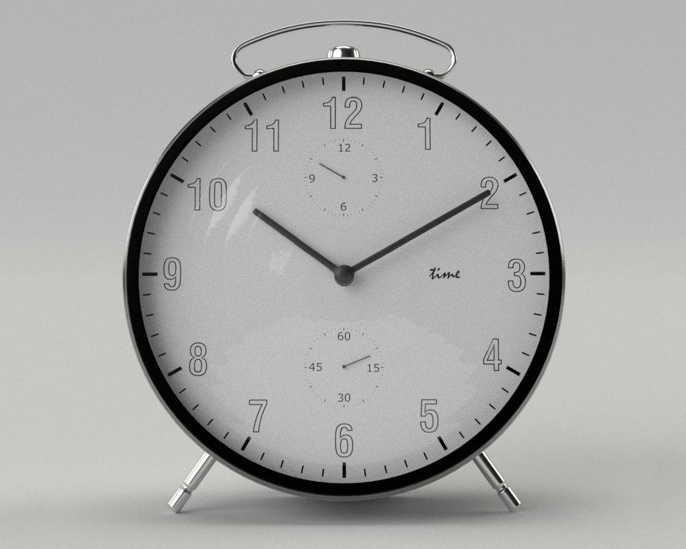 3d model alrm clock