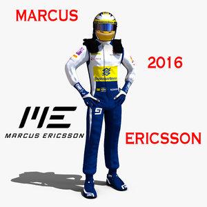 3d marcus ericsson 2016 model