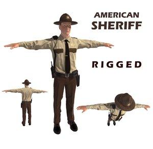 3d sheriff man