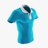 3d obj polo shirt