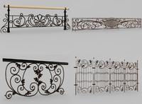 3d model ornamental railing