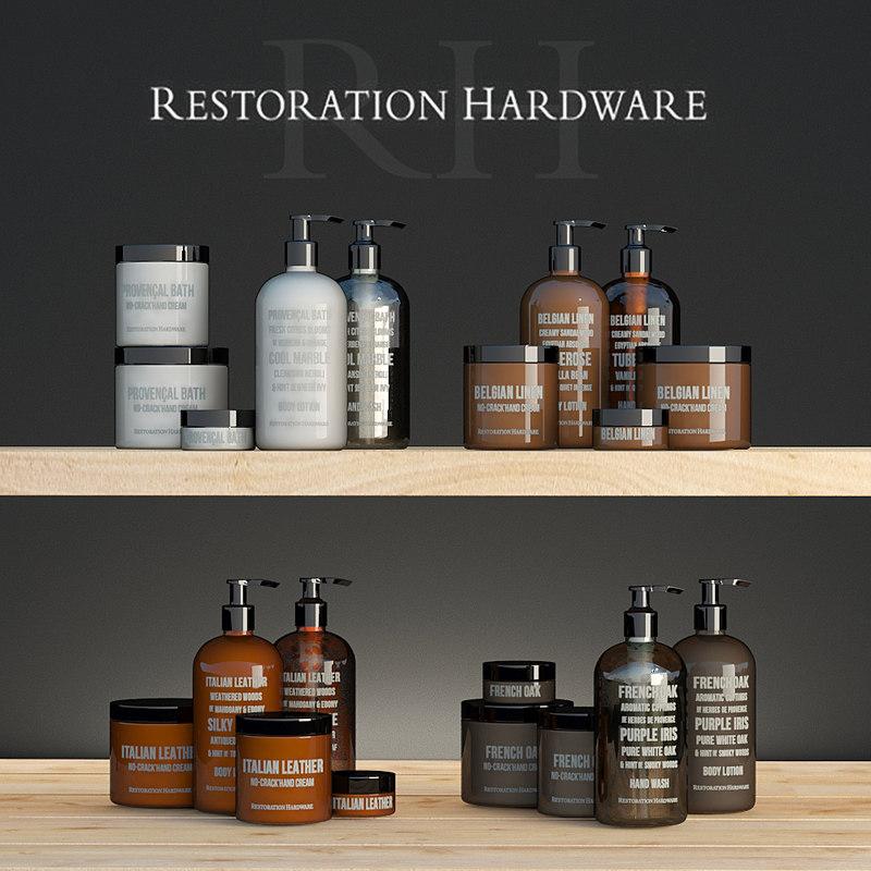 3d decorative set restoration hardware model