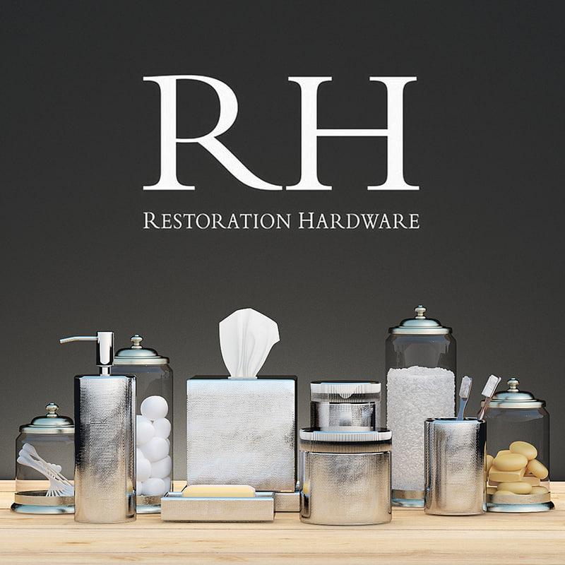 restoration hardware decor 3d max