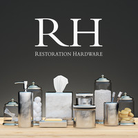 restoration hardware decor 3d max