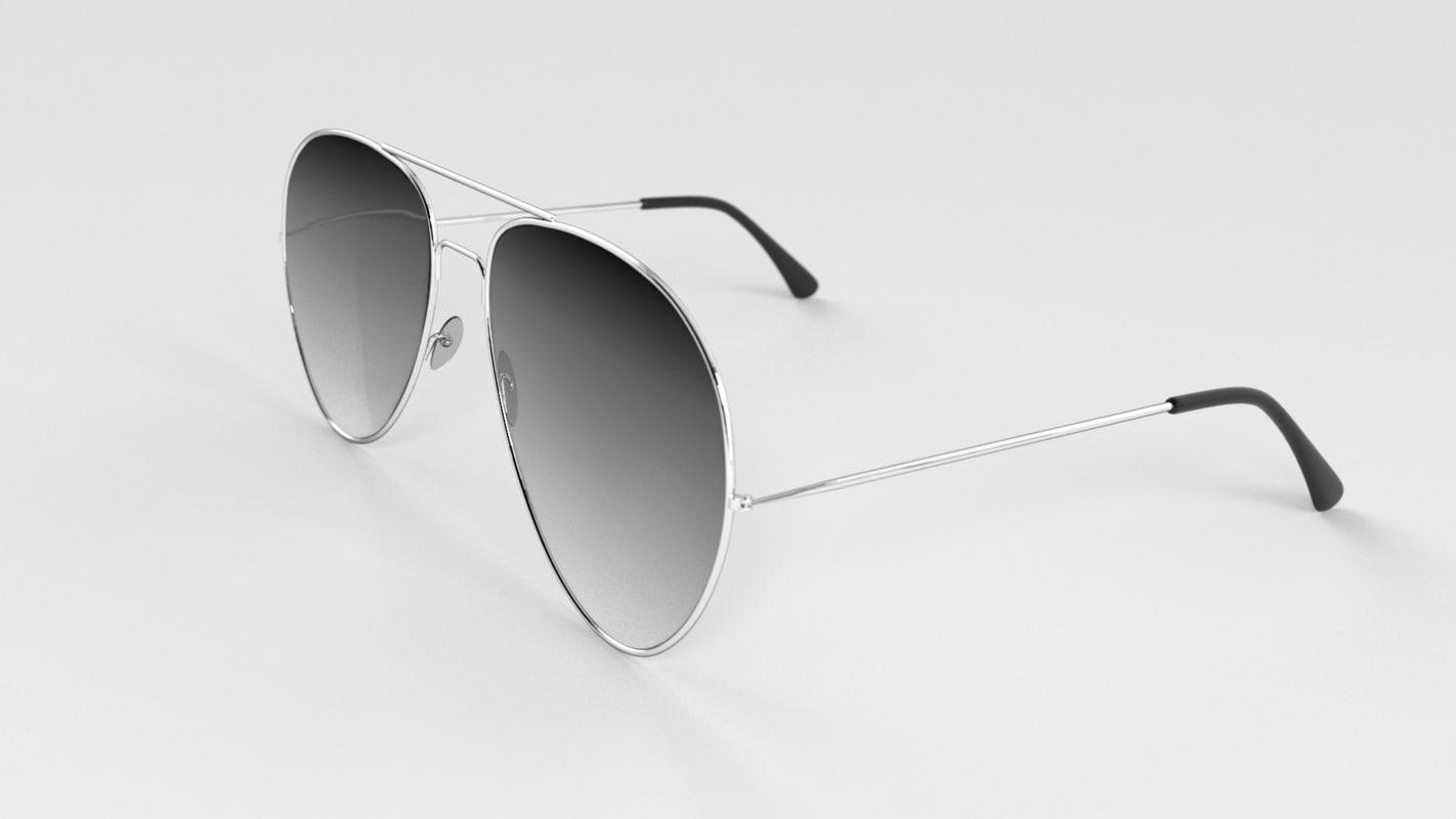 3d 3ds aviator sunglasses glasses