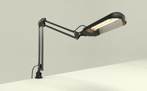 adjustable office table lamp 3d model