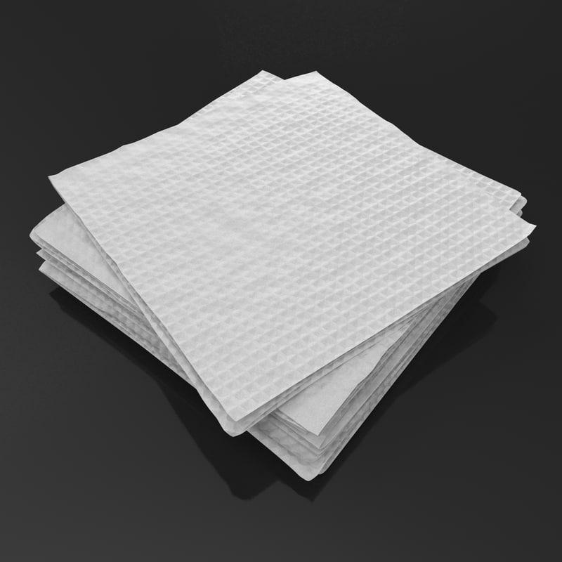 napkin realistic 3d model