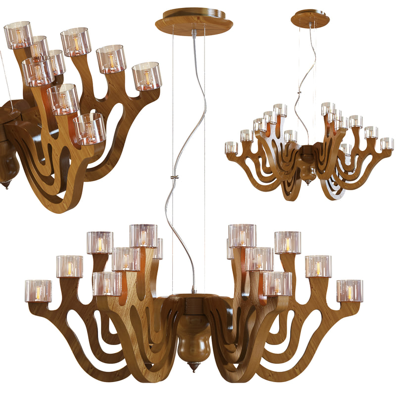 3d model of chandelier lamp light