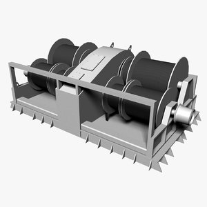 trawler winch 3d model