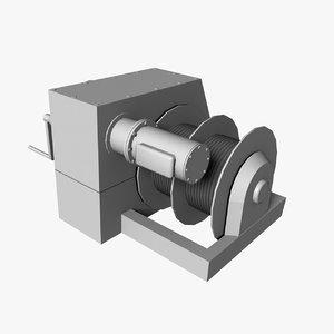 3d model winch 1