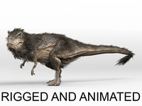 Trex - feathers - RIGGED AND ANIMATED