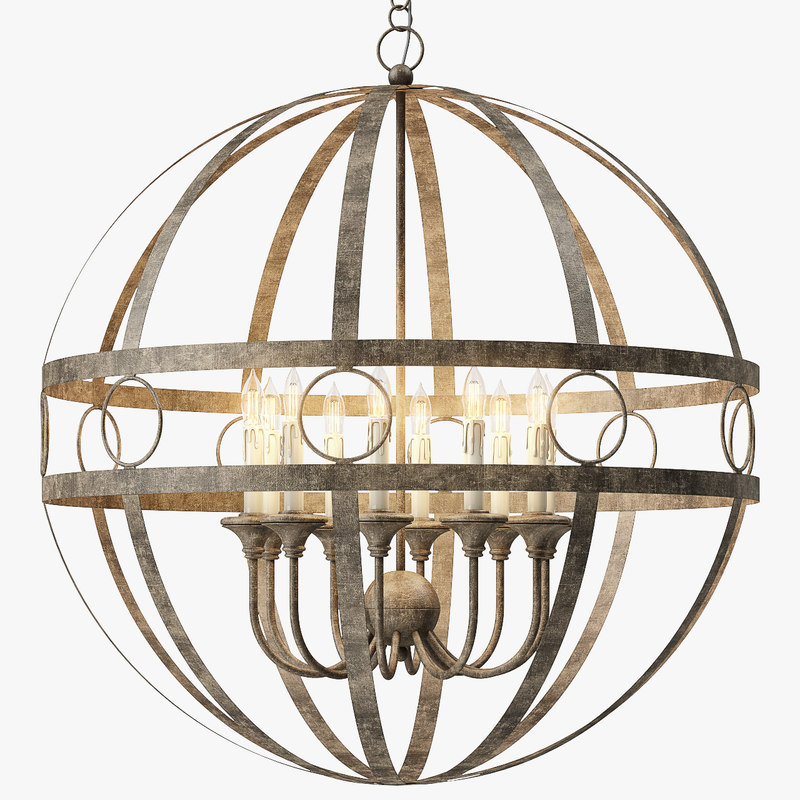 3d model hollace chandelier pendant lights
