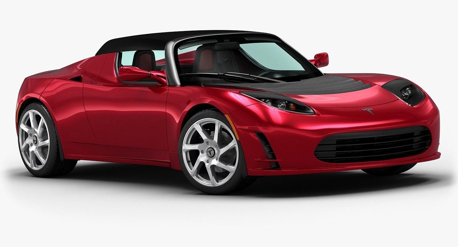 2013 tesla roadster 3d model