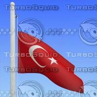 flag turkey - loop 3d max
