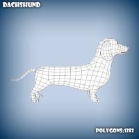 3d base mesh dachshund dog model
