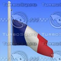 3d flag france - loop model