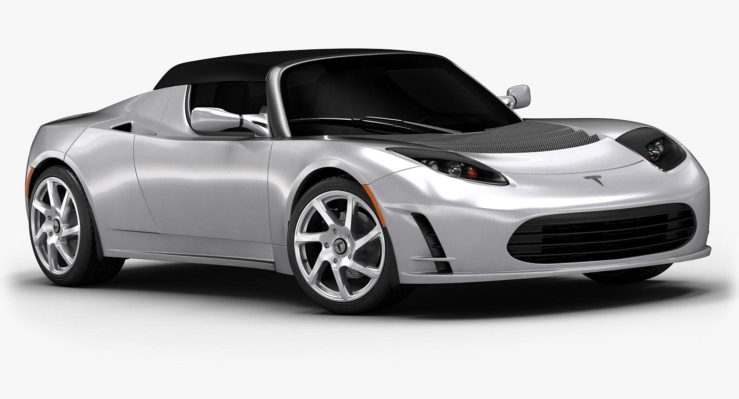 2013 tesla roadster interior 3ds