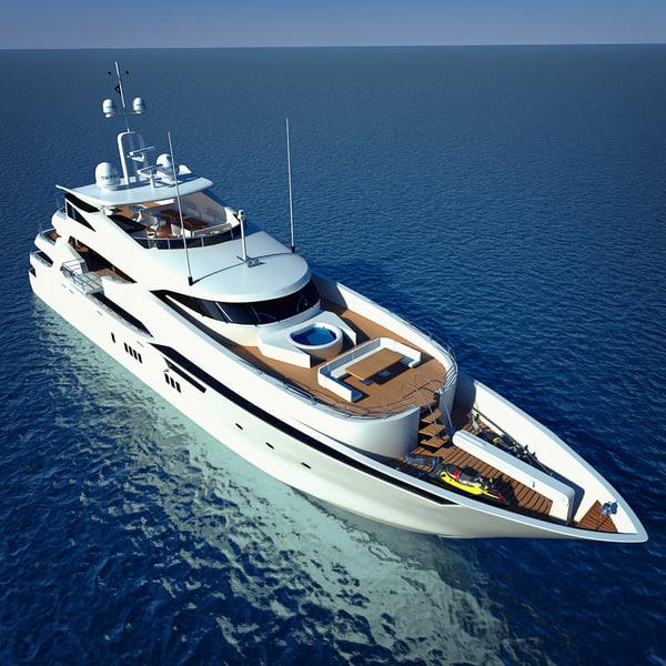 luxary yacht sunseeker predator 3d model