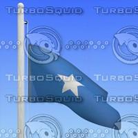 3d max flag somalia - loop