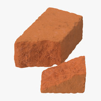 bricks broken 01 3d model