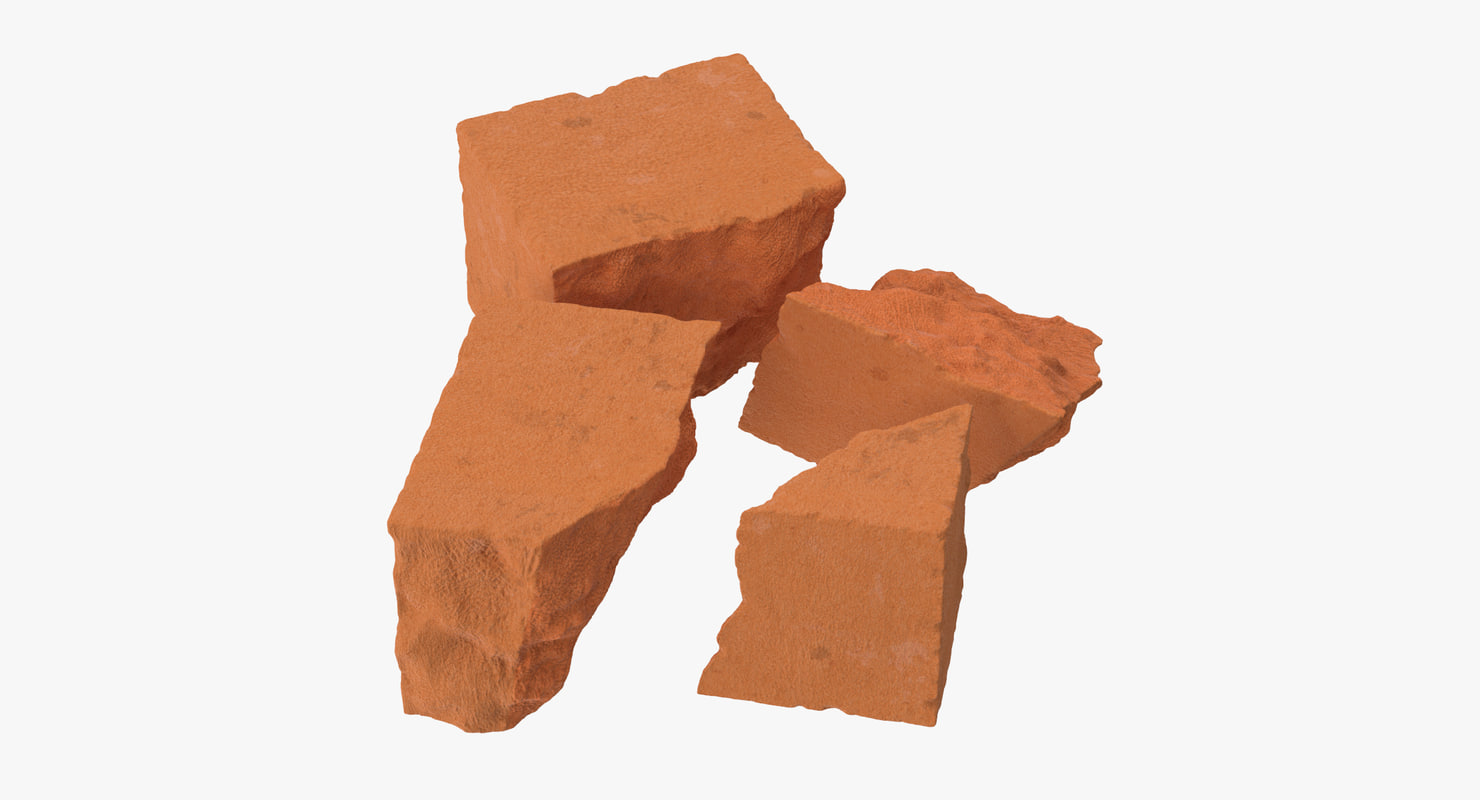 bricks broken 02 3d model