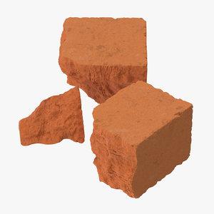 3d model bricks broken 03