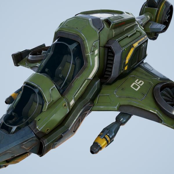 3d model scout ship - unreal
