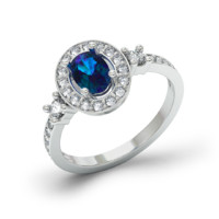 Engagement ring white gold 3