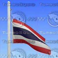 flag thailand - loop 3d model