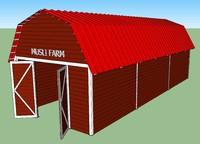 3d model barn metal