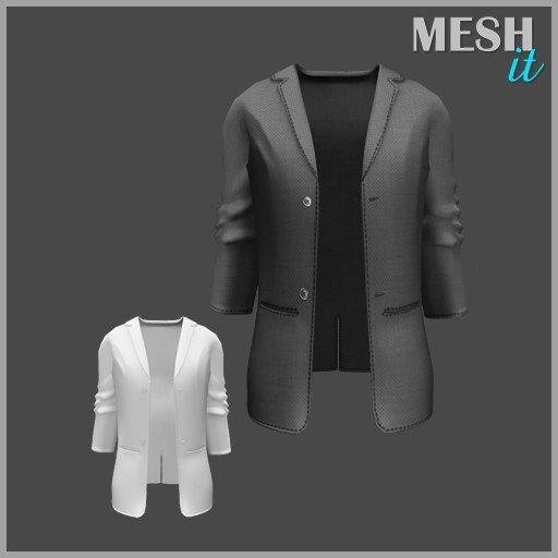 male jacket 3d 3ds