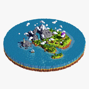 island scene 3d max